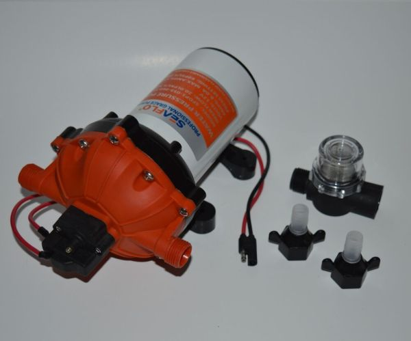 Seaflo High Pressure Marine Water Pump 12 Dc 60 Psi 5.5 Gpm Demand Boat