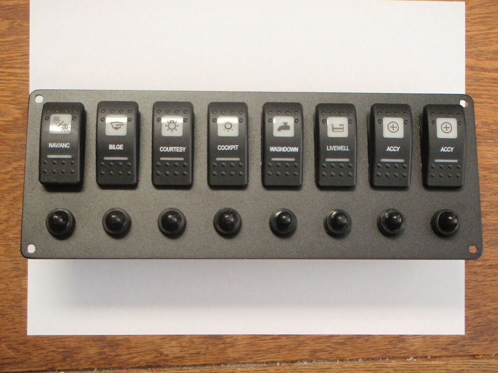 Rocker Switch Panel 8 Switches 8 Breakers Psbc81bk Carling