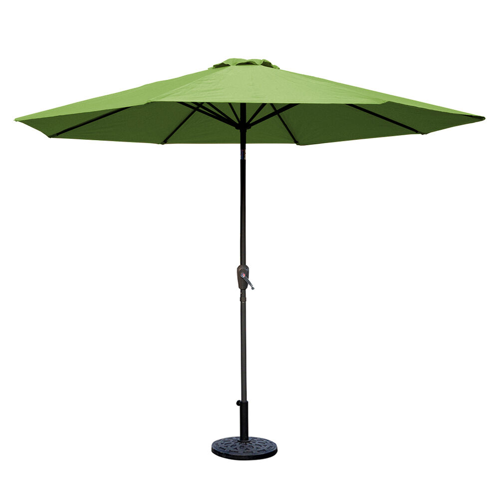 NEW 9ft Aluminum Outdoor Patio Umbrella Market Yard Beach