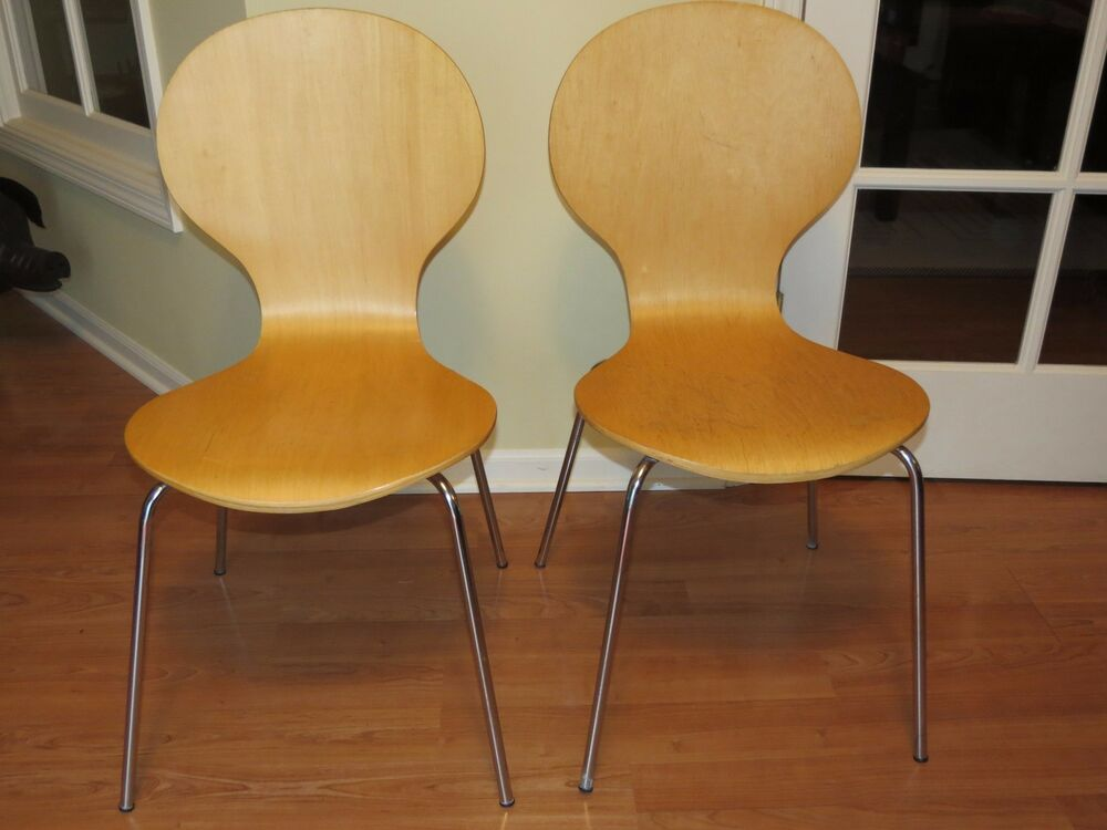 vintage bentwood chairs what is the definition of a chair rail pair mid century modern ant arne jacobsen inspired | ebay