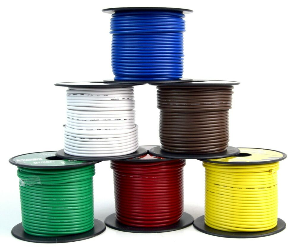 hight resolution of details about trailer wire light cable for harness 6 way cord 16 gauge 100ft roll 6 rolls