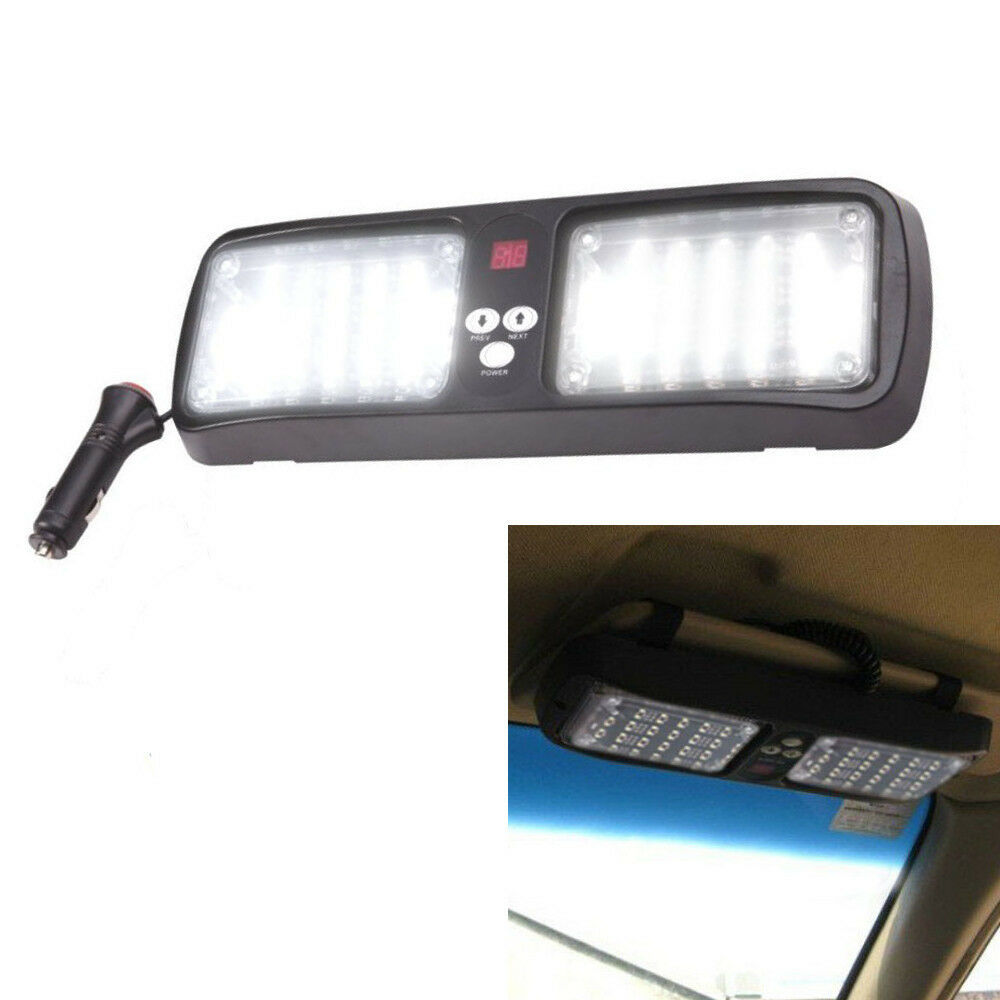 Super Bright White Emergency Warning Vehicle Car Visor 96