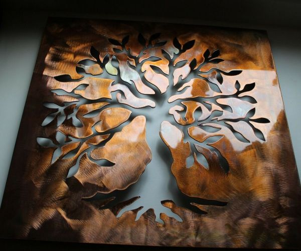 Boxed Olive Tree 3d -tree Of Live Metal Wall Art Decor 24
