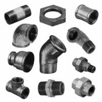 BLACK SELF COLOUR MALLEABLE IRON PIPE FITTINGS CONNECTORS