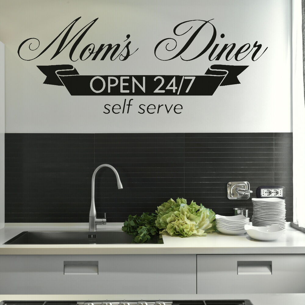 Moms Diner Kitchen Quote Wall Stickers Home Vinyl Decal