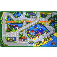 HARBOR MAP KIDS RUG CARS TRUCK CHILDREN PLAY 3 X 5 AREA ...