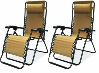 New Set of 2 Ultimate Tailgate Zero Gravity Chair Recliner ...