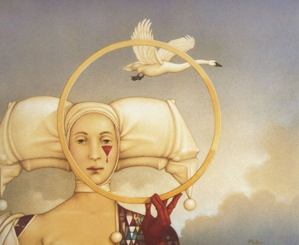 Michael Parkes Swan Hope Death Fantasy Surreal Art Print