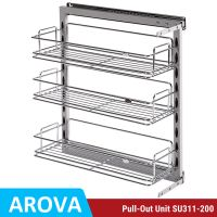 Pull Out Pantry Organiser Kitchen Base Storage Wire Basket ...