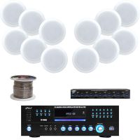 """PD1000A Pyle Receiver,8"""" In-Ceiling Speaker Set,Wiring ..."""