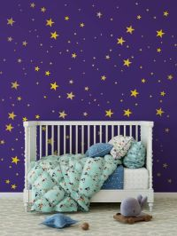 Metallic Gold Wall Decals Stars Wall Decor - Star Wall ...