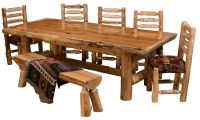 Northern Cedar Log Dining Table Real Wood High Quality ...
