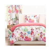 Bedroom Comforter Set 3Pc Bed In A Bag Kitty Print Girls ...