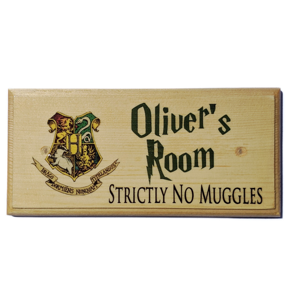 Personalised Harry Potter Plaque  Sign  Gift  Bedroom