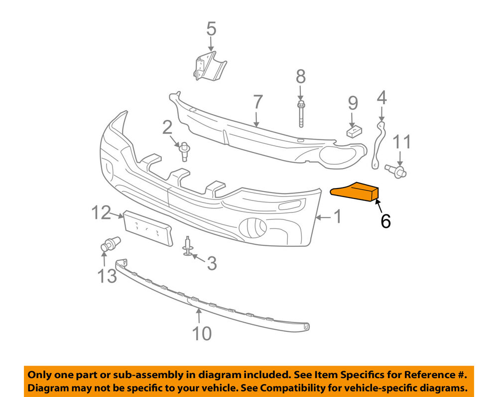 medium resolution of details about gmc gm oem 06 09 envoy front bumper spacer support bracket right 12335950