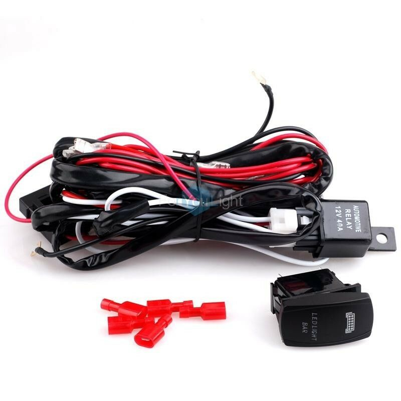 Whdtd15 Led Light Wiring Harness With Switch And Relay Dual