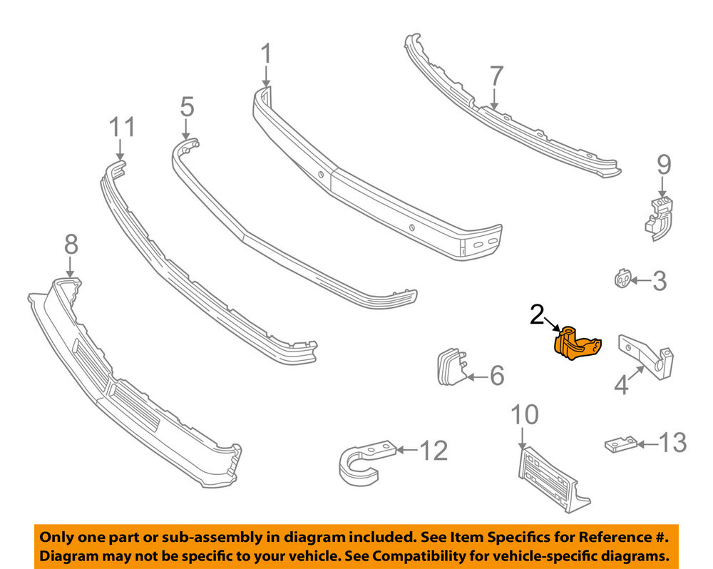 hight resolution of details about gm oem front bumper face bar mount bracket right 15686152