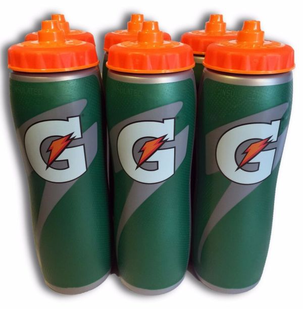 6 Pack Of 32oz Insulated Gatorade Water Bottles With Gator