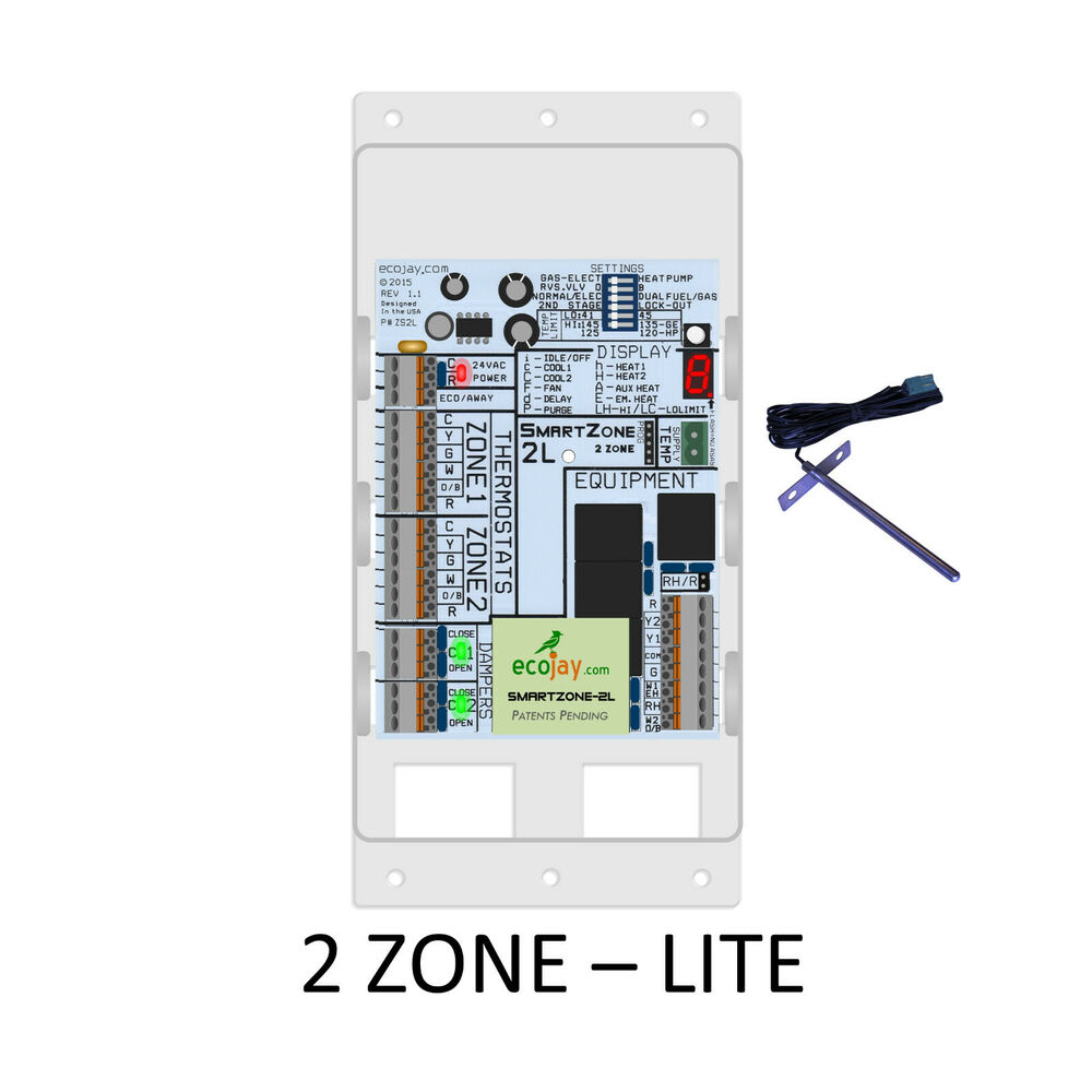 hight resolution of details about universal 2 zone controler smartzone 2l best value hvac zoning damper control