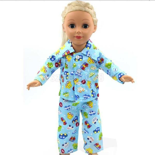 Blue Pajamas PJS Nightgown Clothes for 18quot Our Generation