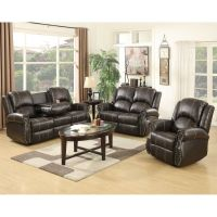 Gold Thread 3+2+1 Sofa Set Loveseat Couch Recliner Leather ...