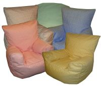 Gingham Check Bean Bag Chair (Childrens, Toddler, Kids ...