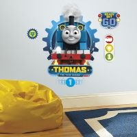 THOMAS THE TANK ENGINE RACING WALL DECALS Giant Boys Train ...