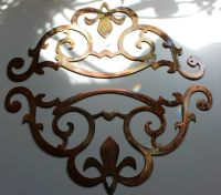 Metal Wall Art Accent Scroll Corners set of 2 | eBay