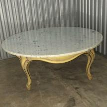 """Vintage French Provincial 40"""" Marble Top Coffee"""