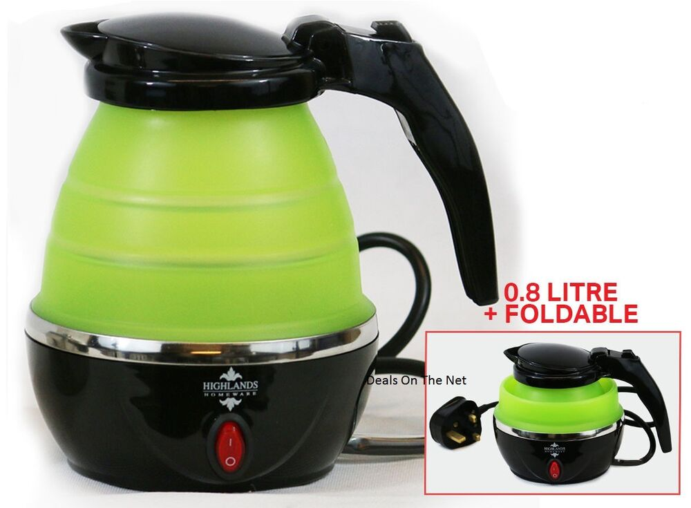 08L 240V TRAVEL FOLDABLE TRAVEL KETTLE BOIL ELECTRIC