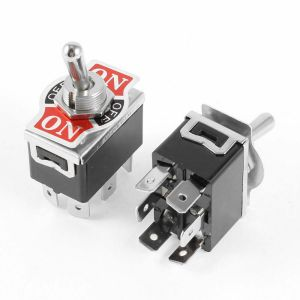 2Pcs DPDT 3 Position (ON)OFF(ON) Momentary 6 Terminals
