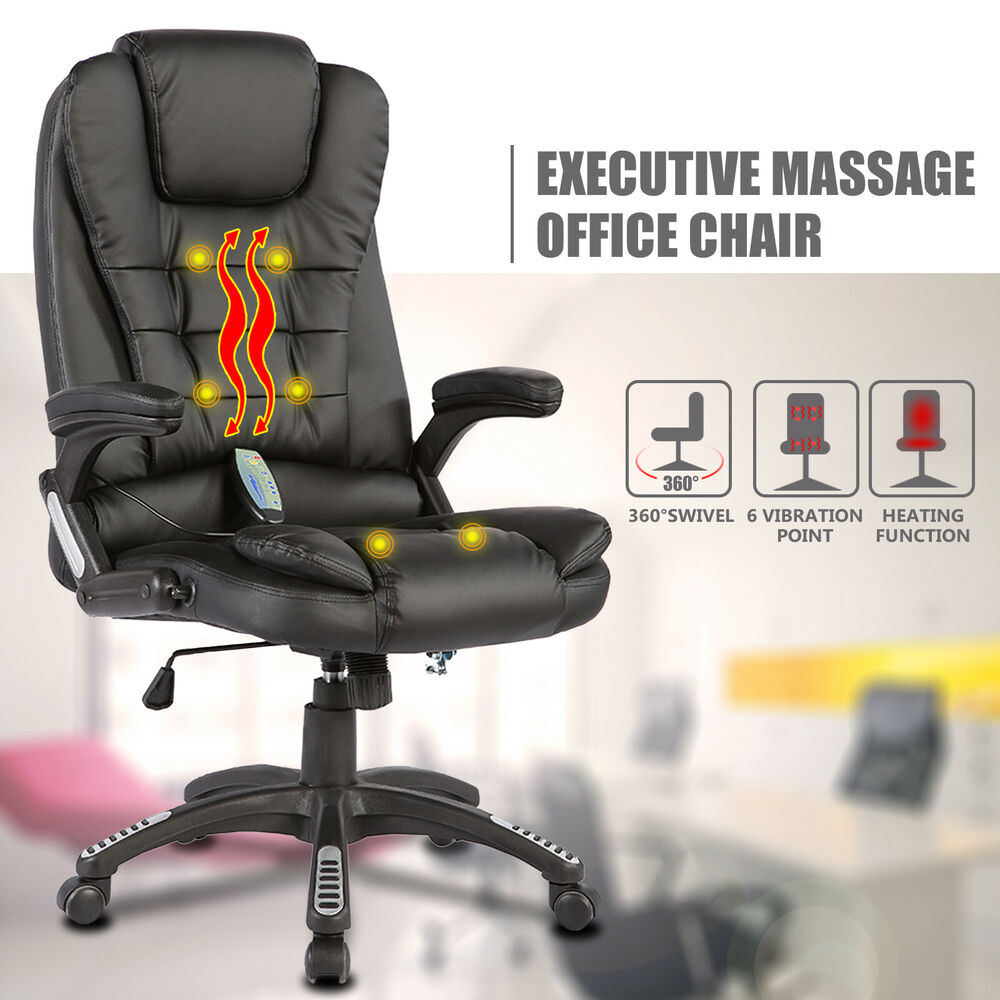 Executive Office Massager Chair Heated Vibrating Ergonomic