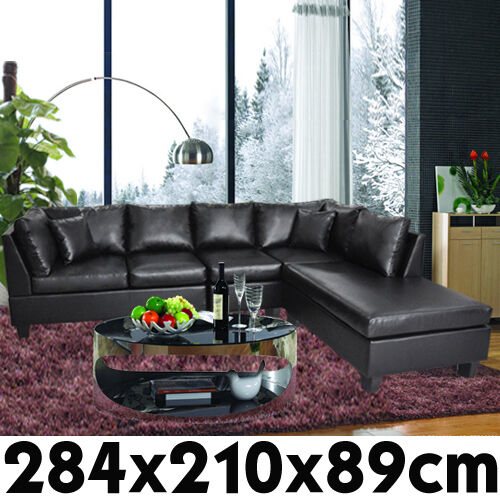 nubuck leather sofa poundex bobkona new pu corner suite lounge couch furniture ...