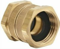 "BRASS GARDEN HOSE ADAPTER FEMALE GHT SWIVEL 3/4"" X 3/4"