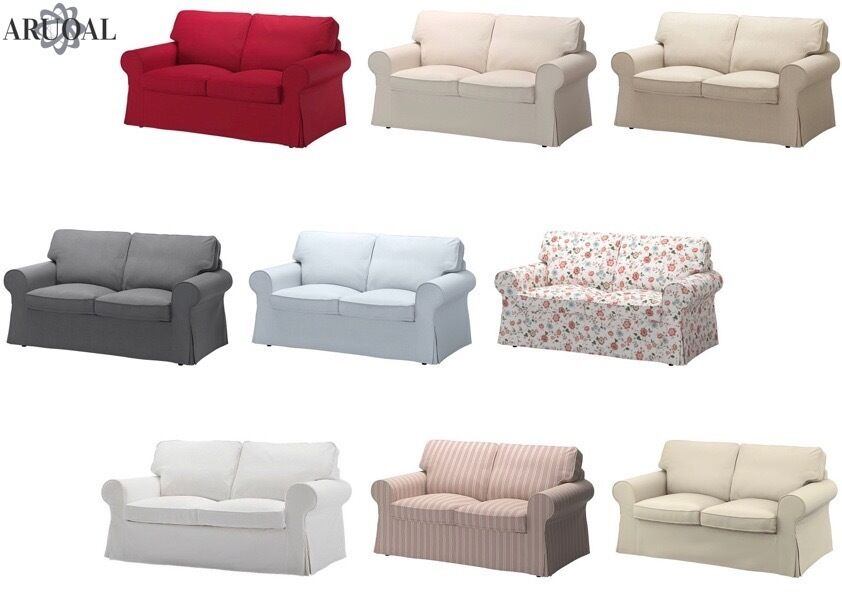 ikea 4 seater sofa cover one bed ektorp two seat , in various colours ...