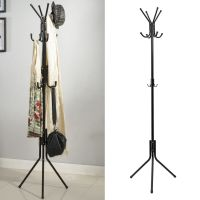 Freestanding 8 Hook Hat and Coat Stand Clothes Hanger Hang ...