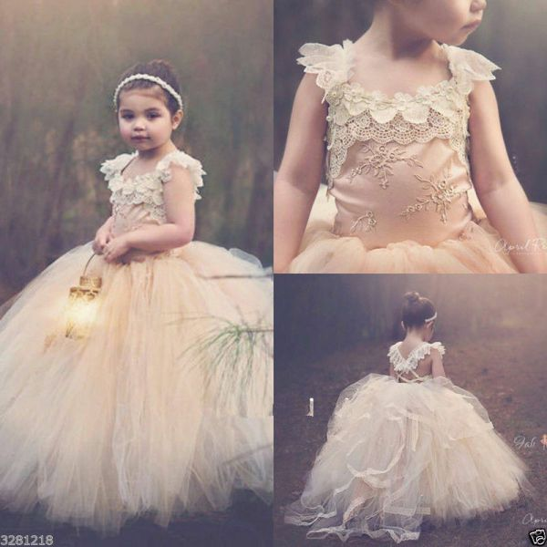Princess Tutu Flower Girl Dress Kid Party Pageant Wedding