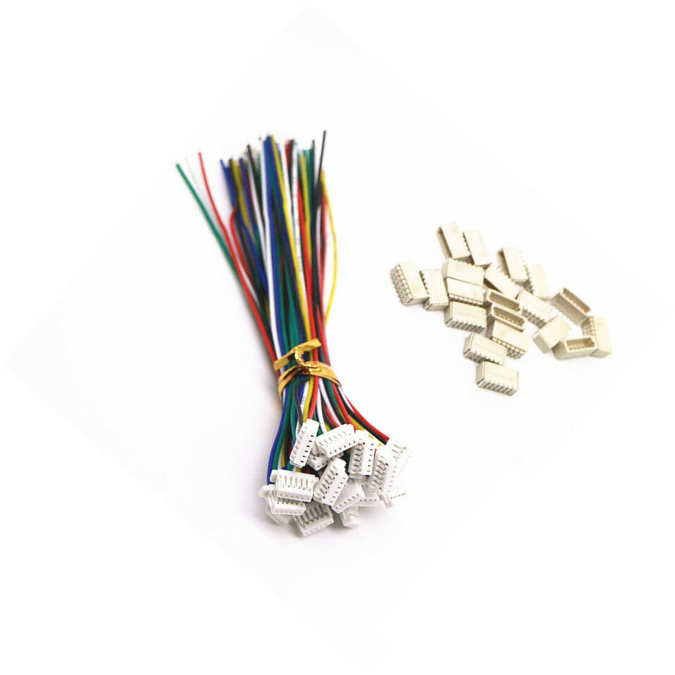 5 Sets Micro Jst Sh 1 0mm 6 Pin Female Connector With Wire