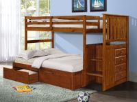 Bunk Beds with Storage Drawers, Stairs, and Built-in ...