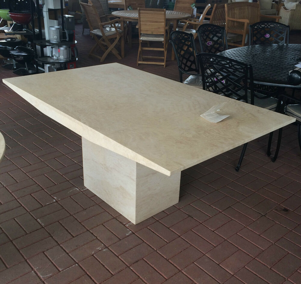 2 seater kitchen table outdoor modules actona rectangle travertine marble dining rrp £1289 ...