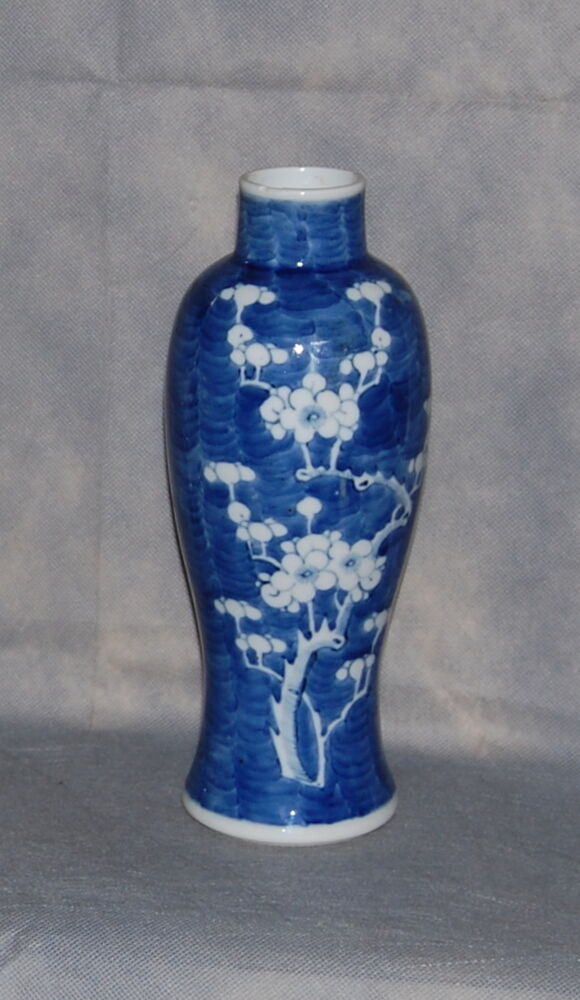 Antique Chinese Porcelain Blue White Prunus Blossom Tall