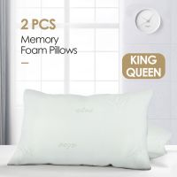 2 Pack Bamboo Memory Foam Bed Pillow Queen/King Size