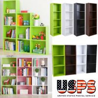 Bookcase 3/4 Shelf Storage Bookshelf Wood Furniture ...