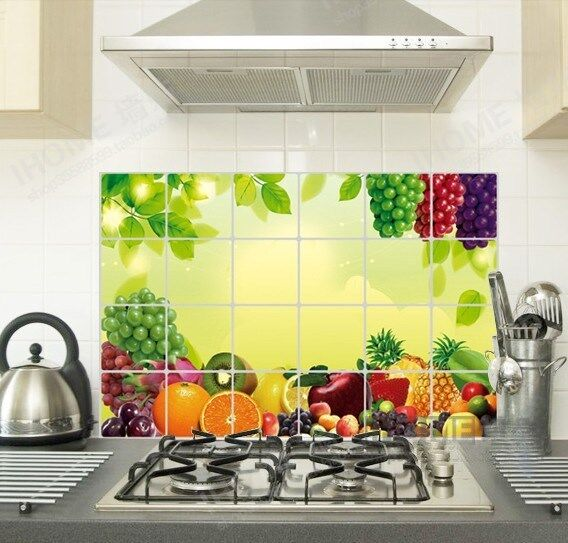 Decals Oil Proof Stickers Keep Clean Kitchen Wall Sticker