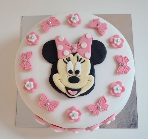 Edible Minnie Mouse Cake Topper Birthday Icing