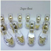 48 Clear Slippers Wedding Souvenir Favor Holders Plastic ...