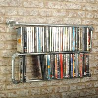 New Double Floating Industrial Style DVD Rack Shelf ...