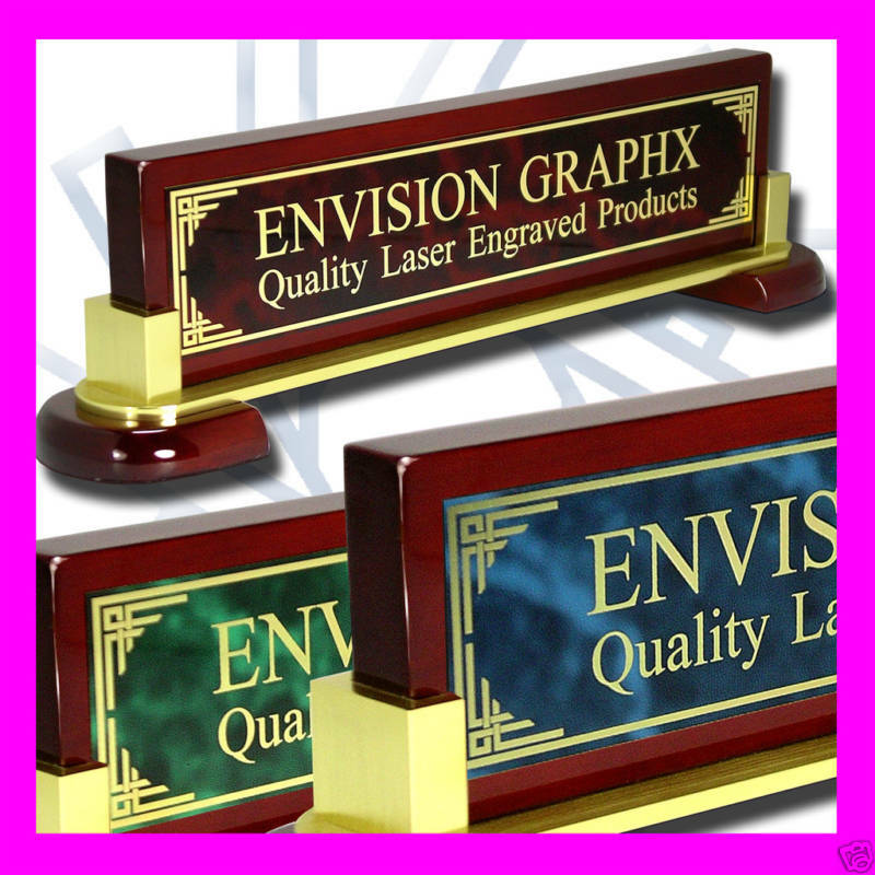 LARGE PERSONALIZED CUSTOM DESK NAME PLATE DESIGN GIFT