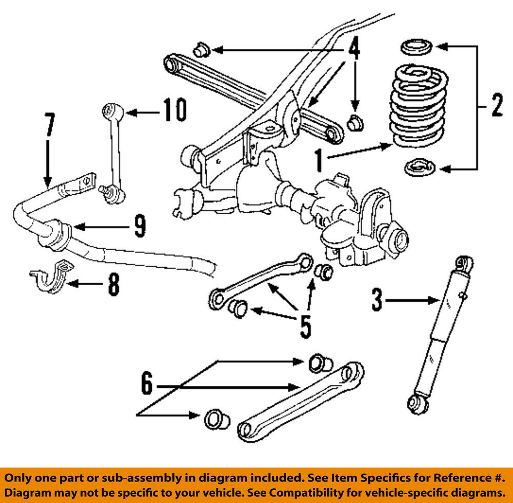 hight resolution of gm oem stabilizer sway bar rear link 15257472 sway bars parts accessories