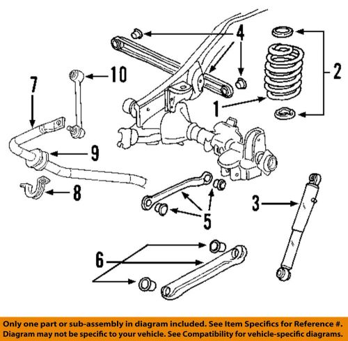 small resolution of gm oem stabilizer sway bar rear link 15257472 sway bars parts accessories